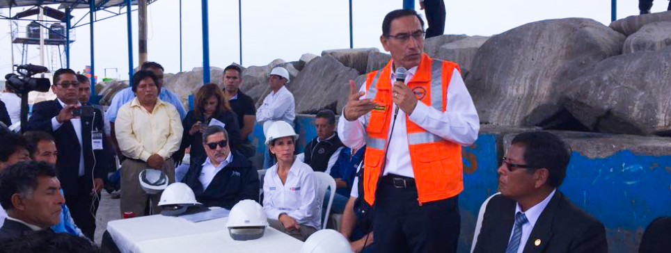 Presidente Martín Vizcarra realiza visita de supervisión a las obras de mejoramiento del Desembarcadero Pequero Artesanal Ilo